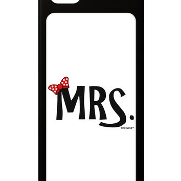Matching Mr and Mrs Design - Mrs Bow iPhone 5 / 5S Grip Case  by TooLoud
