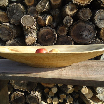 ON HOLD Large Maple wood bowl - Large wood salad bowl - Rustic home decor - Hand carved wood bowl - Wooden bowl -Large table centerpiece