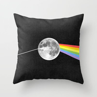 Dark Side of the Moon. Throw Pillow by Nick Nelson | Society6
