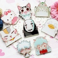 Cool Accessory Toys Gifts Collection -- 7pcs Badge Brooch Pins KT(cat,etc)
