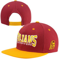 Top of the World USC Trojans Under Pressure Snapback Hat - Cardinal/Gold