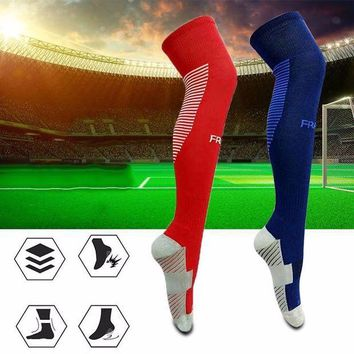 LMFEB2 Anti-skid Football Stockings Cycling Long Soccer Socks Winter Leg Warmers Thickened Cotton Sports Socks For Adult Men and Women