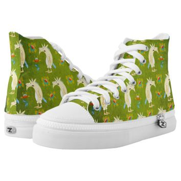 Flowers & Unicorns High-Top Sneakers