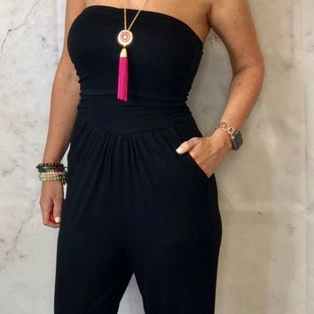 Dallas Jumpsuit: Black