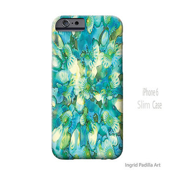 Floral, Blue, iPhone 6 Case, Spring, Flower, iPhone Case, Art, iPhone cases, Ingrid Padilla, iPhone 5 case, iPhone 6 Plus Case, note 4 case
