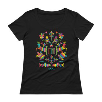 Mexican Otomi Michigan Womens's Scoopneck T-Shirt