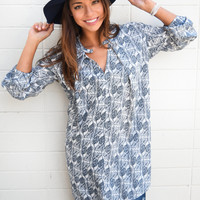 Western Plains Printed Cutout Tunic