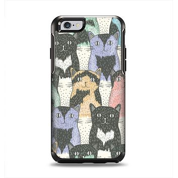 The Vintage Cat portrait Apple iPhone 6 Otterbox Symmetry Case Skin Set