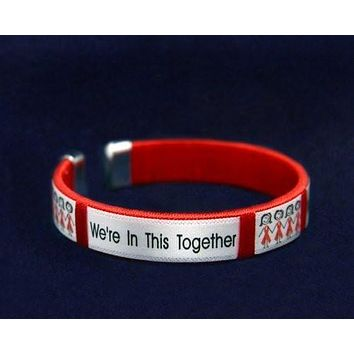 We're in This Together Red Ribbon Bracelet for Causes