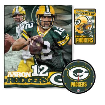 Green Bay Packers NFL Aaron Rodgers Bedroom Decor 3pc Set