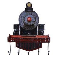 The Urban Port Rustic Rail Engine Wall Hooks