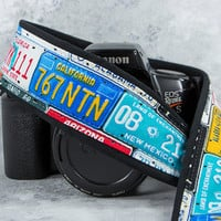 dSLR Camera Strap, License Plates, Car Tags, Auto, Mens Camera Strap, Photographer Gift, Camera Accessories Canon Nikon Camera strap, 167 ww