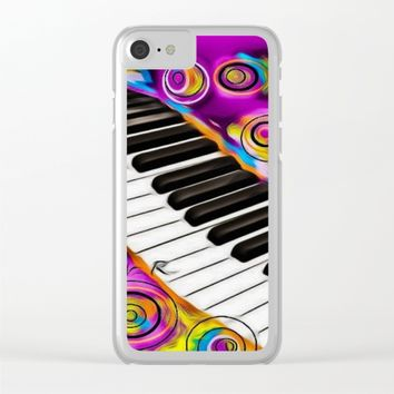 PIANO FLOWS Clear iPhone Case by violajohnsonriley