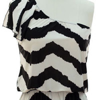 Black White Chevron Top from Shopbellastyle