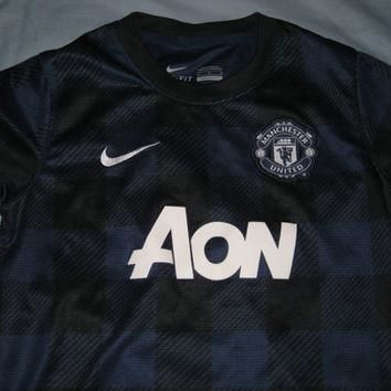 Sale!! Vintage EUC Nike Manchester United Away Soccer Jersey Mufc Football Jersey Boys