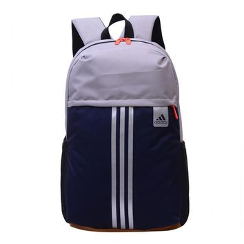 Adidas Fashion Casual Male Female Student High Capacity Canvas College Winds Hit Color Backpack