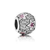 PANDORA Pink Follow the Stars Charm