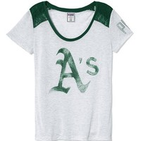 Oakland Athletics Lace High-low Tee  - PINK - Victoria's Secret