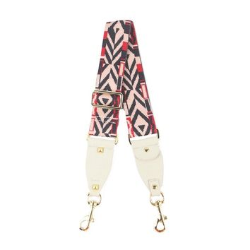 Rockstar Guitar Style Strap, Pink-Nude-Red-Ivory