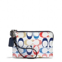 BLEECKER SMALL WRISTLET IN MULTI C PRINT COATED CANVAS
