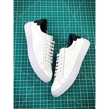 Givenchy Low Top Lace Up White Black Sneakers