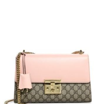 Gucci - Padlock Studded Leather Shoulder Bag