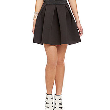 Soprano Solid Sponge Skirt - Black