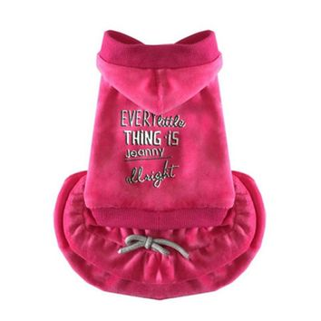 False two pieces Pet dog Hooded coat warm puppy dogs Cupcake doggy dogs hoodie clothing apparel Jacket drop ship