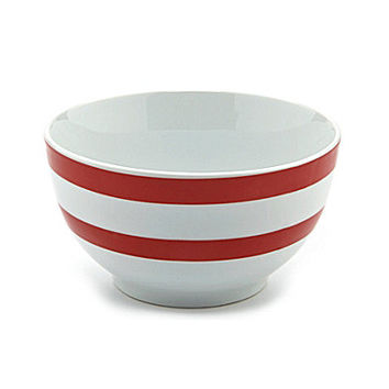 Noble Excellence Polka Dot and Stripe Bowls - Red Dot Bowl