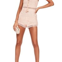 Missguided Lace Up Romper | Nordstrom