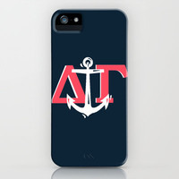 Delta Gamma Navy White iPhone & iPod Case by SororityProject