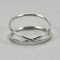 14K Palladium White Gold Infinity Eternity Ring, Unique Wedding Band, sizes 6.25-9 this listing, Sea Babe Jewelry