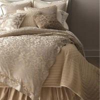 Lili Alessandra Jackie Champagne and Silver Duvet Cover or Set