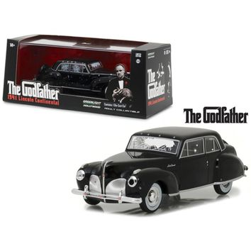 1941 Lincoln Continental Black with Bullet Damage \The Godfather\ Movie (1972) 1-43 Diecast Model Car by Greenlight