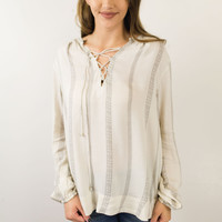 Fable Lace Up Blouse