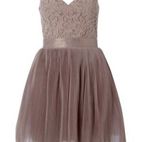 Lipsy V I P Pleated Full Skirt Lace Prom Dress - Lipsy