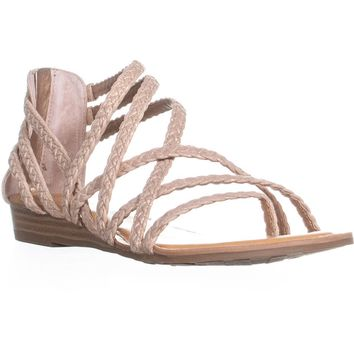 Carlos By Carlos Santana Amara 2 Braided Strap Sandals, Rose Gold, 6 US / 36 EU
