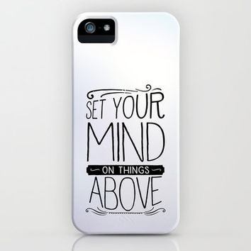 Colossians 3:2 THINGS ABOVE iPhone & iPod Case by Pocket Fuel