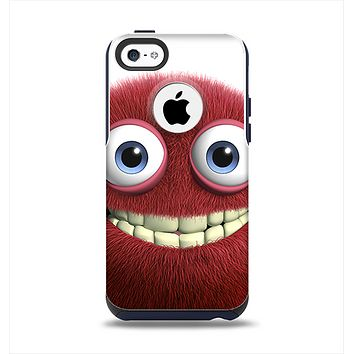 The Red Smiling Fuzzy Wuzzy Apple iPhone 5c Otterbox Commuter Case Skin Set