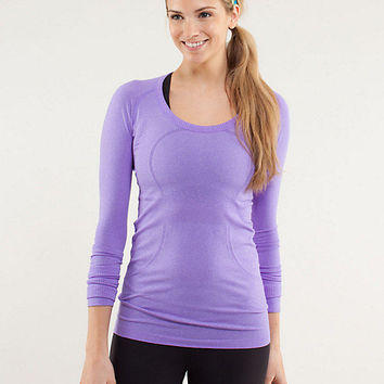 run: swiftly tech long sleeve scoop | women's tops | lululemon athletica