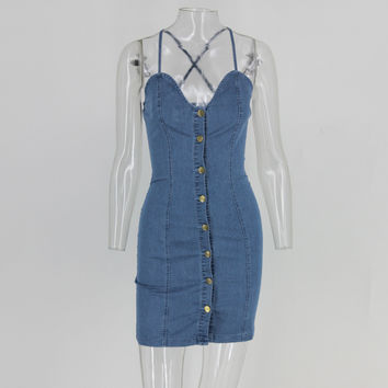 Club Jeanie Denim Dress