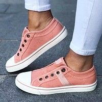 Fashion matching flat flat lovers shoes casual sports shoes Pink