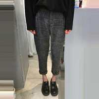 2017 Autumn Winter New Casual Trousers Women Slim Woolen Harem Pants Female Lattice Korean Style Pencil Pants Ladies Clothing-in Pants & Capris from Women's Clothing & Accessories on Aliexpress.com | Alibaba Group