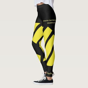 Yellow Team/Club Leggings with Fake Shorts