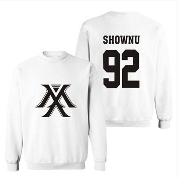 MONSTA X the same paragraph should help the Korean version of spring and autumn men and women fleece sweater coat-1