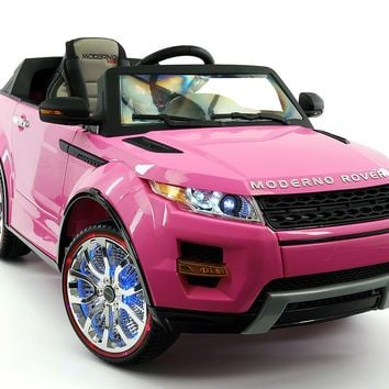 Moderno Rover 12V Kids Ride-On Car with R/C Parental Remote | Pink