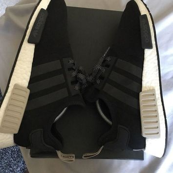 ICIKHI2 Adidas NMD R1¡ª Beige/Black. VNDS worn 3 times. Size 11. OG Box Included.