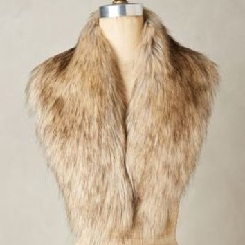 Ingara Faux-Fur Stole by Anthropologie in Brown Size: One Size Accessories