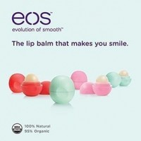 eos Organic Smooth Sphere Lip Balm - Summer Fruit, Sweet Mint, Strawberry Sorbet (6 Pack) 2 Each