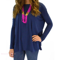 Galloway Navy Piko Top